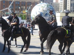 Mounted police at USSF opening march