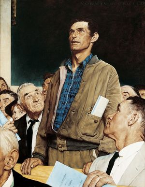Freedom of Speech, The Saturday Evening Post, February 20, 1943 huile sur toile