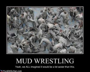 Political-pictures-mud-wrestling