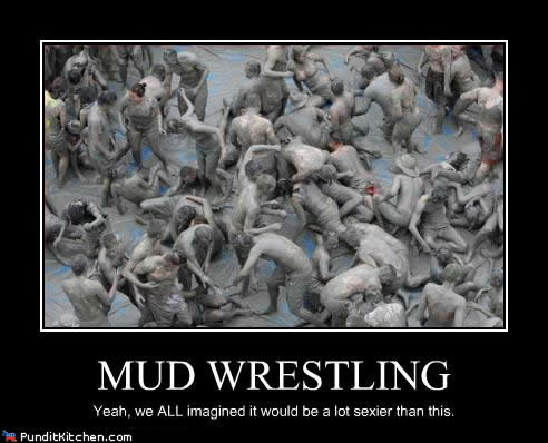 Political-pictures-mud-wrestling