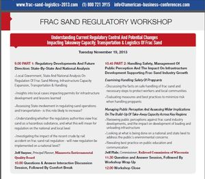 Fracsandregulatoryworkshop