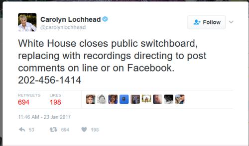 Whitehouseclosesphoneline