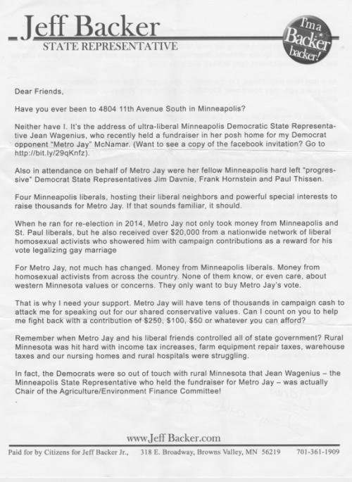 Backer fundraiser letter 1