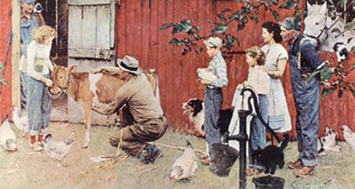 Norman-rockwell-farm-family-scene