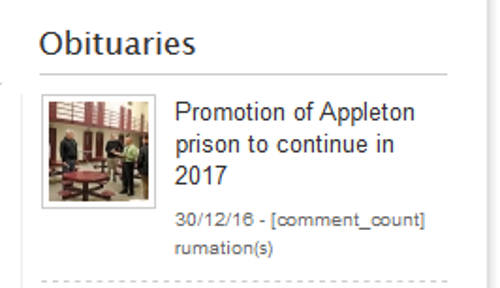 ObitsforAppletonPrison