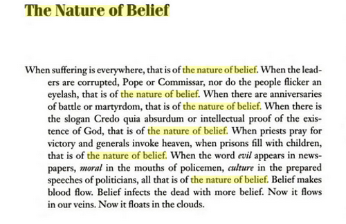 Natureofbelief